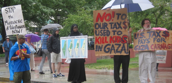 rally for gaza